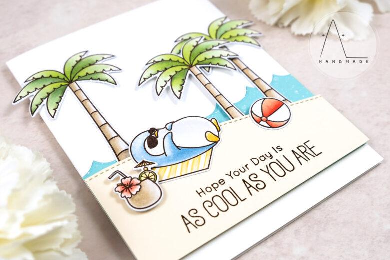 AL handmade - My Favorite Things - BB Penguins in Paradise stamp set and Die-namics
