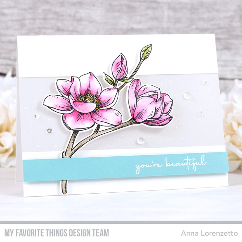 AL handmade - My Favorite Things - Magnolia Blossoms Card Kit - Magnolia Blossoms stamp set and Die-namics