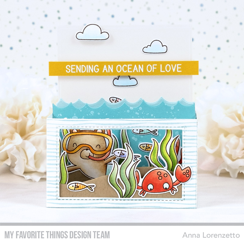 AL handmade - My Favorite Things DT - Outside the Box - Best Fins stamp set and Outside the Box Die-namics