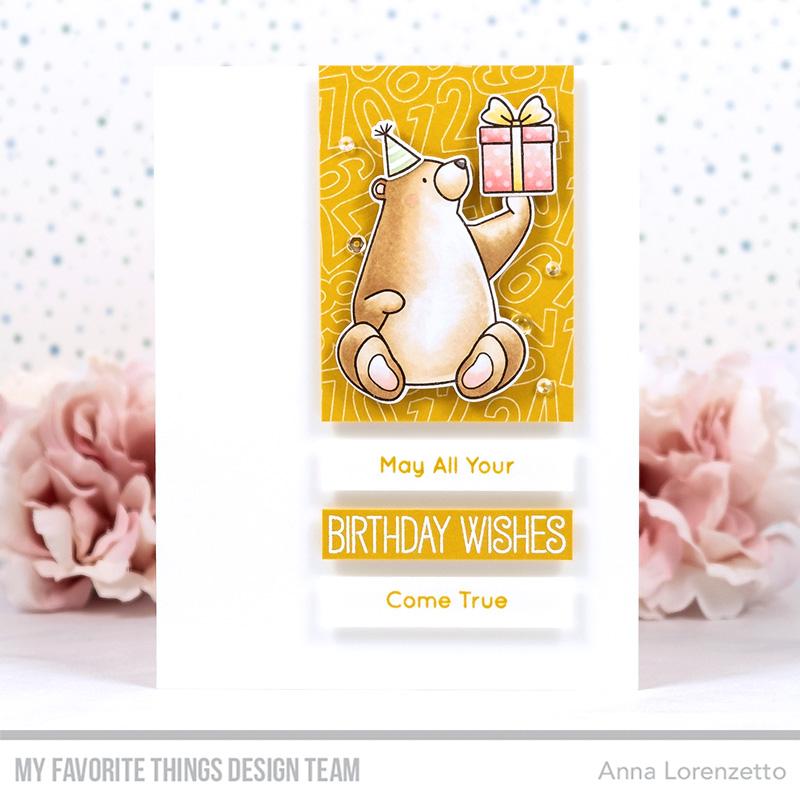 AL handmade - My Favorite Things DT - WSC 547 - BB Birthday Bears stamp set and Die-namics