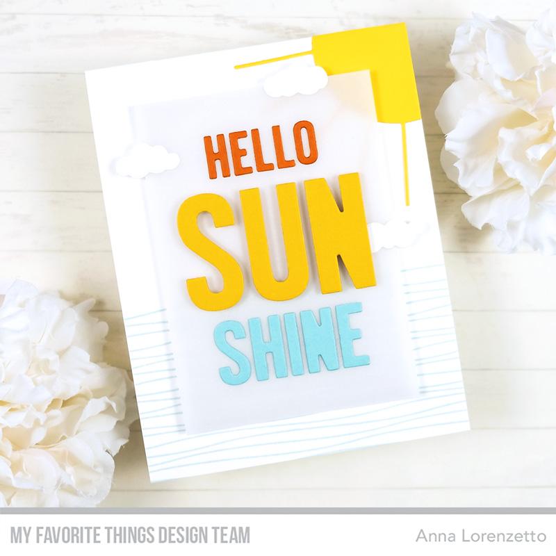 AL handmade - My Favorite Things - Hello Sunshine Die-namics and Rippled Background