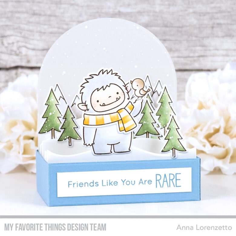 AL handmade - My Favorite Things DT - Outside the Box - BB Beast Friends stamp set and Die-namics