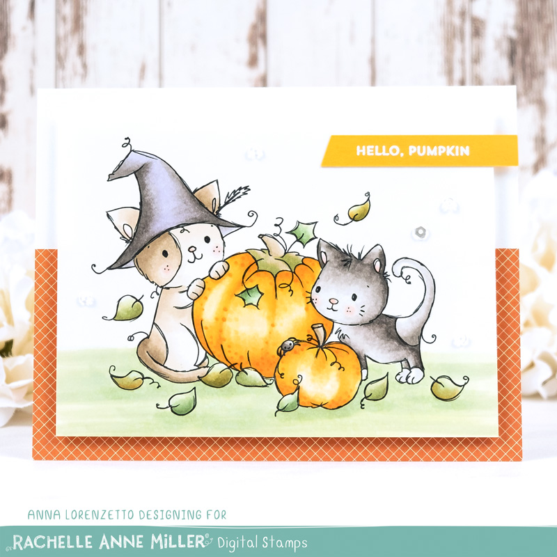 AL handmade - Rachelle Anne Miller DT - Halloween Cats Digital Stamp