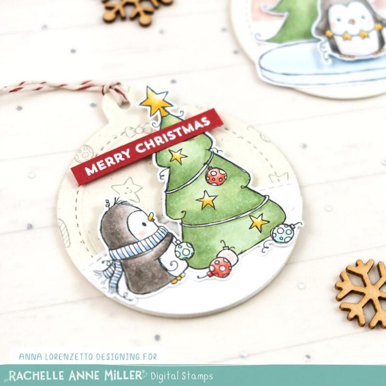 AL handmade - Rachelle Anne Miller DT - Christmas Penguins Digital Stamp