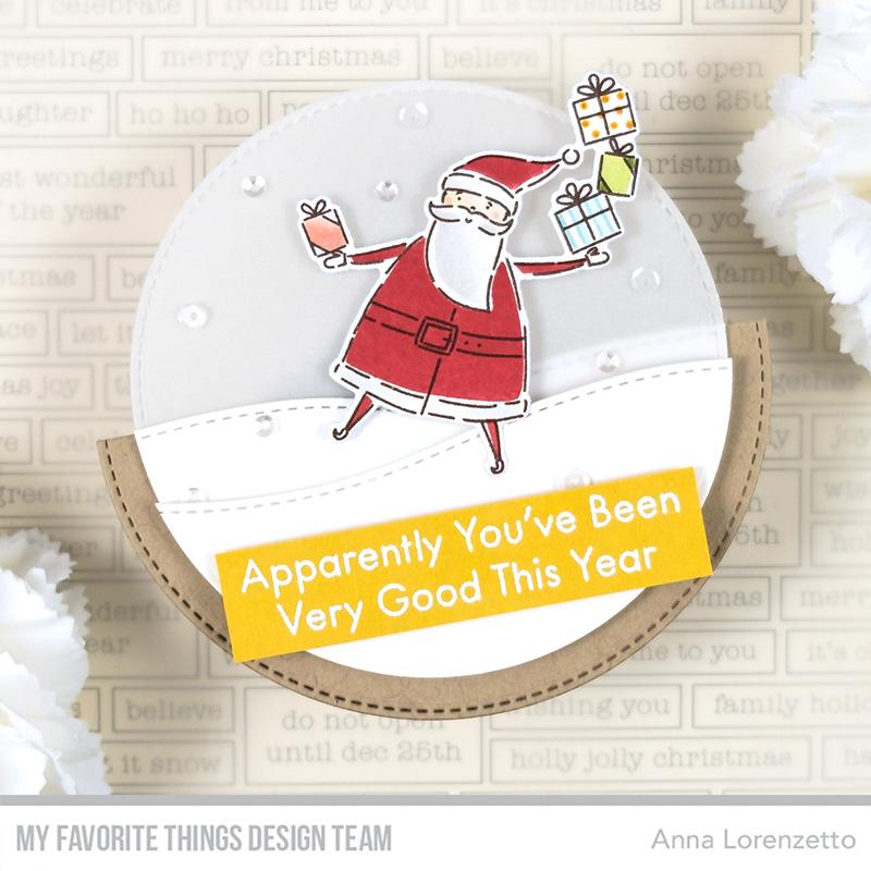 AL handmade - My Favorite Things DT - Gifts from Santa stamp set and Die-namics