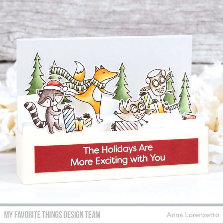 AL handmade - My Favorite Things DT - Put the Jolly in the Holidays stamp set and Mini Slimline Outside the Box Die-namics