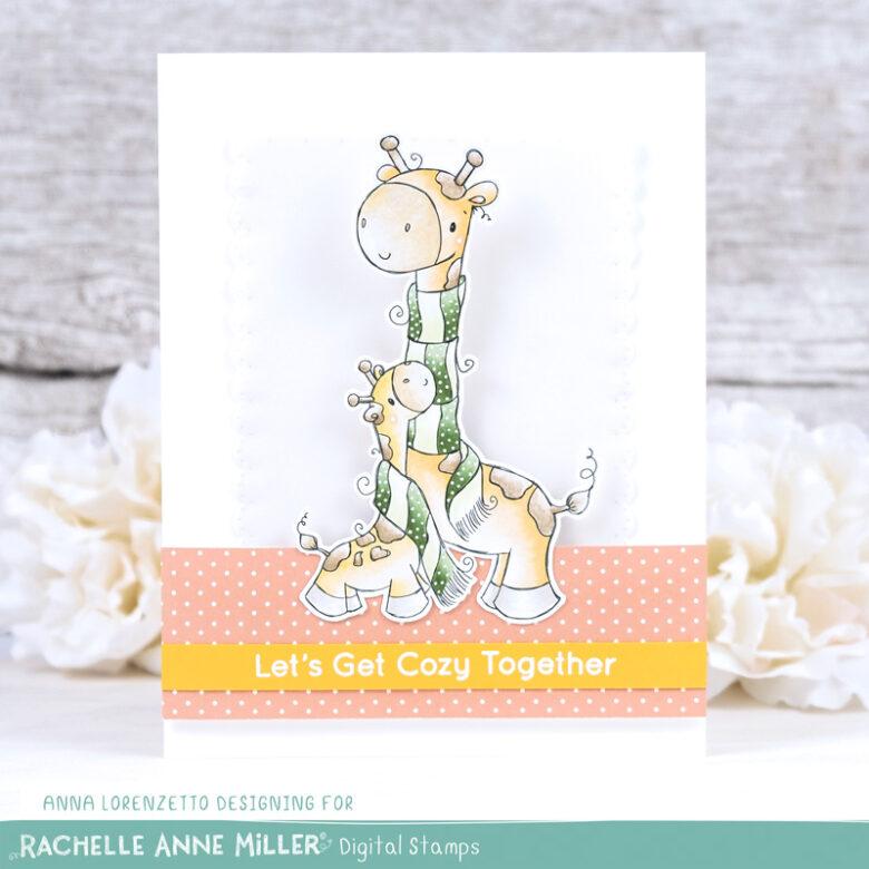 AL handmade - Rachelle Anne Miller DT - Giraffe Hug Digital Stamp